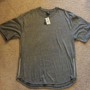 3X men's short sleeve heathered grey shirt